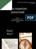 Etika Organisasi gol 3