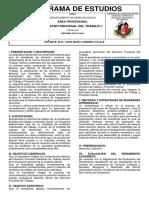PROGRAMA CURSO 234 - DERECHO PROCESAL DEL TRABAJO I