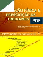 avaliação física e prescrição de treinamento