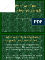 C Introductory Paragraphs