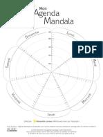 Mon Agenda Mandala Floral