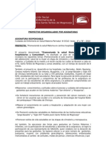 Informe Proyeccion Social Diciembre 2010