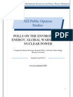Polls on the Environment, Energy, Global Warming, and Nuclear Power, AEI Public Opinion Study, April 2011