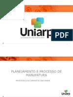 Aula 1 - Planejamento e Processo de Manufatura