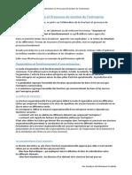 la structure et processus de gestion de l'entréprise