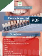 trabalho de Dentisitica escala de cor
