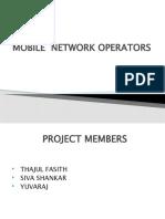 Mobile Network Operators