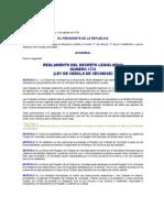 ACUERDO DEL 05-08-1931 REGLAMENTO DEL DECRETO LEGISLATIVO 1735 LEY DE CEDULAS DE VECINDAD