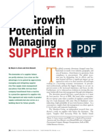 The Growth Potential in Managing Supplier Risk