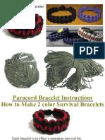 2 Color Paracord Survival Bracelet