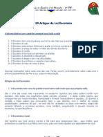 05 - Artigos Da Lei Escoteira