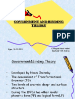 Government and Binding Theory