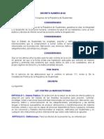 DECRETO NUMERO 48-92 Ley Contra la Narcoactividad