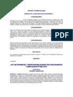DECRETO NUMERO 89-2002 LEY DE PROBIDAD Y RESPONSABILIDADES DE FUNCIONARIOS Y EMPLEADOS PUBLICOS