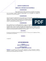 DECRETO NUMERO 95-98 LEY DE MIGRACION
