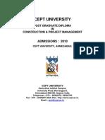 PG Dip in CPM Admission Brochure-2010