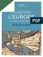 Inventer l'Europe