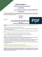 DECRETO NUMERO 512 LEY ORGANICA DEL MINISTERIO PUBLICO