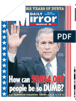 Daily Mirror on George Bush's Re-election
