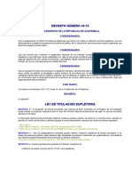DECRETO NÚMERO 49-79 LEY DE TITULACION SUPLETORIA