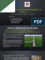 DIAPOSITIVAS - EXPO LEY DE RECURSOS HIDRICOS