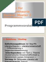Seminar Für Literaturtheorie.programmvorstellung (1)