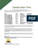 Alaska Solar Tour State Wide 2011