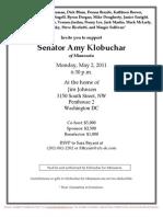 Reception for Amy Klobuchar