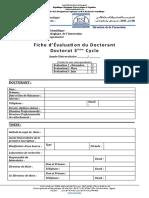 Fiche Evaluation Doctorat