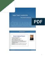 Agile Team Leadership- The Art of Letting Go
