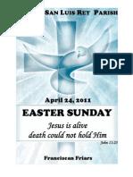 Mission San Luis Rey Parish Easter Sunday Bulletin 4-24-2011