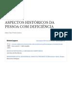 ASPECTOS HISTÓRICOS DAS PESSOAS COM DEFICIÊNCIA