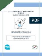 MEMORIAS DE DISEÑO TANQUE MARMATO(0)