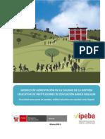 MODELO DE ACREDITACION PARA EDUCACION BÁSICA REGULAR (2011)