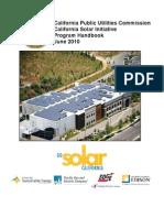 California Solar Initiative Program Handbook
