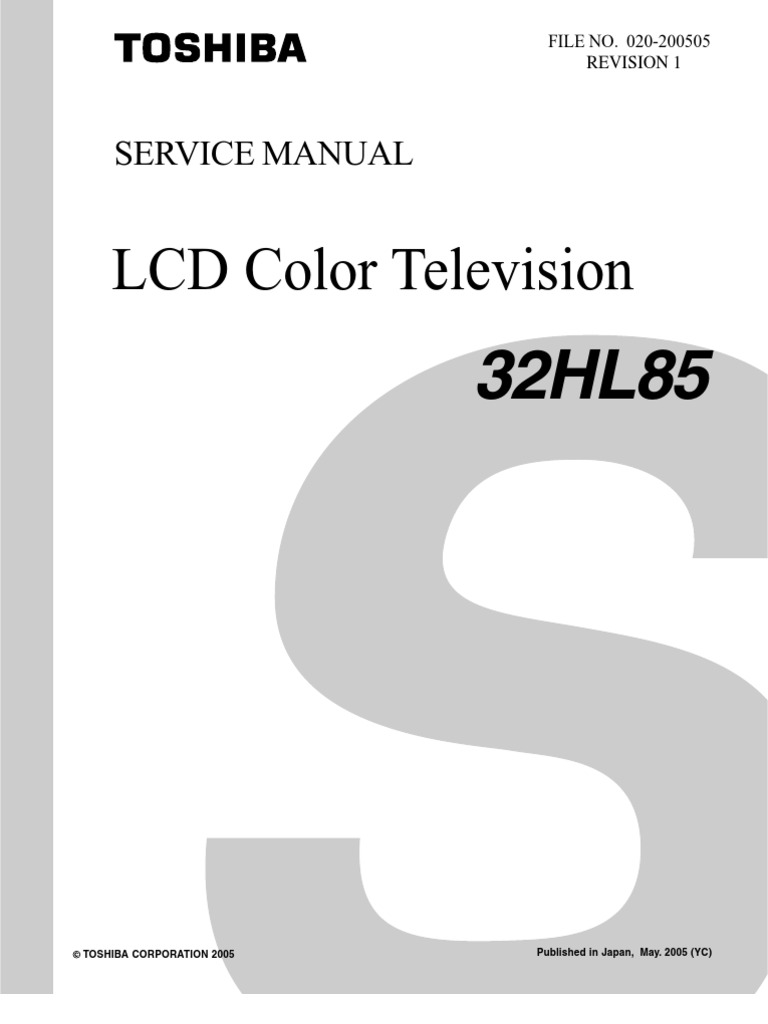 Toshiba Color Tv 34hf84 Service Manual Ct 90159 User Man Specifications Firework Displays 36hf73 Introduction