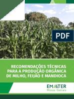 Recomendações técnicas para a produção orgânica de milho feijão e mandioca
