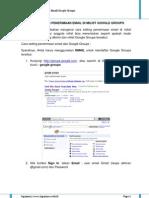 Cara Setting Penerimaan Email Google Groups
