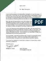 margaret Allard letter of recommendation