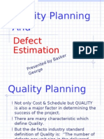 Quality Planning and Defects