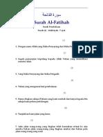 001 Al-Fatihah