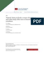 Australia Natural Claim Study