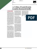 Carlo Bo e Urbino, 50 anni di storia. In mostra anche documenti inediti - Il Corriere Adriatico del 22 ottobre 2021