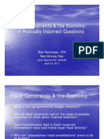 Fiscal Constraints & the Economy