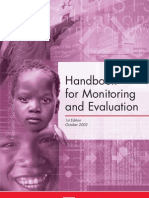 Handbook for Monitoring and Evaluation