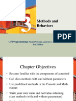 7 Methods and Behavior