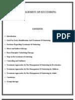 Management of Stuttering