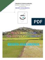 Plan Régionale de développement - Région Analamanga (Région Analamanga - 2005)