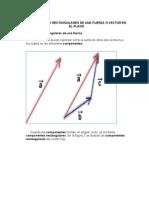 Componentes Rectangulares de Una Fuerza o Vector en El Plano.