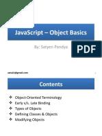 JavaScript – Object Basics By Satyen